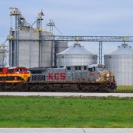 train by grain bin